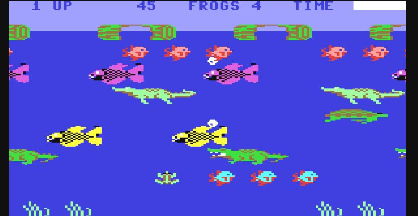 Frogger II: ThreeeDeep! | Juego : Commodore 64 | Parker Bros (1984)
