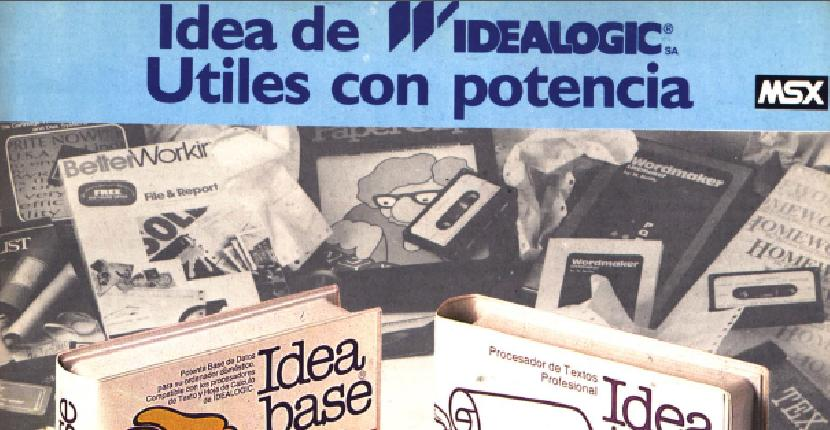 Idea Text, Idea Base y Dim-Calc | Herramientas : MSX | Idealogic