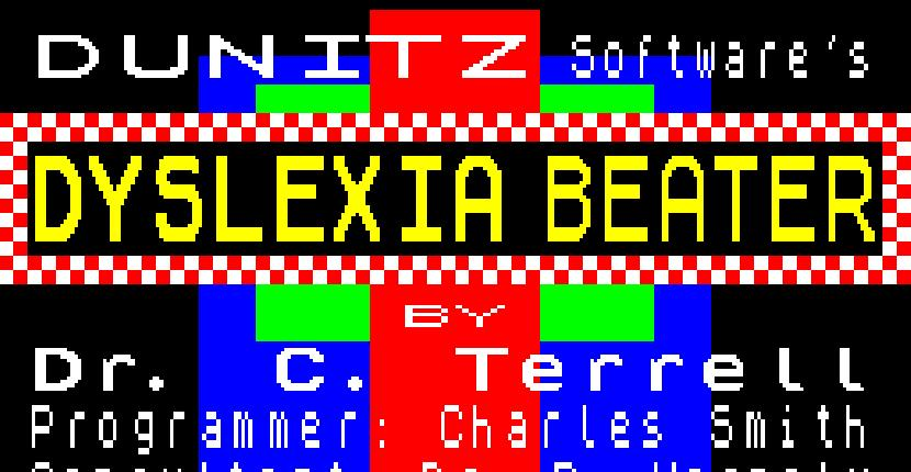 Dyslexia Beater | Educativo : Spectrum 48K | Charles Smith · 1985