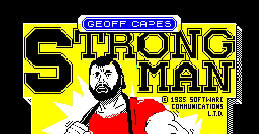 Geoff Capes Strong Man | Juego : Spectrum 48K | Ian McArdle · 1986