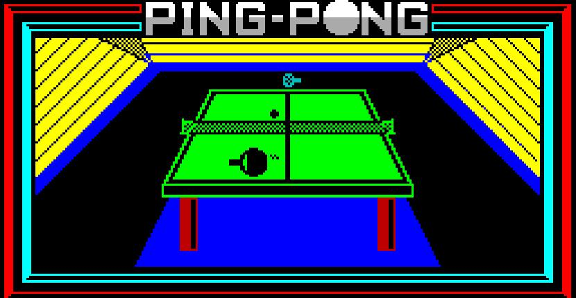 Ping-Pong | Juego : Spectrum 48K | Jonathan Smith | Imagine · Konami