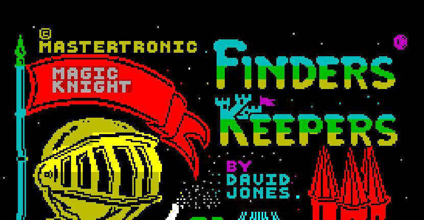 Finders Keepers | Juego : Spectrum 48K | David Jones | Mastertronic