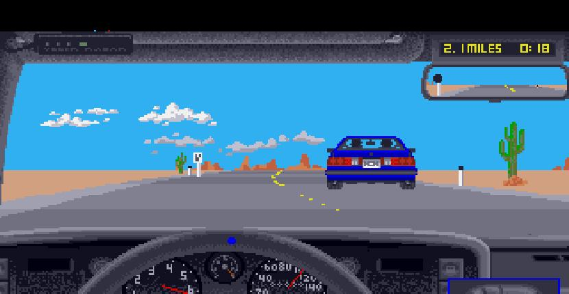 Test Drive II: The Duel | Juego: Amiga 500 | Accolade & Distinctive Software · 1989
