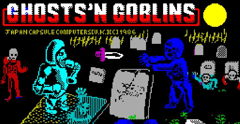 Ghosts 'n Goblins de ZX Spectrum por ELITE (1986)