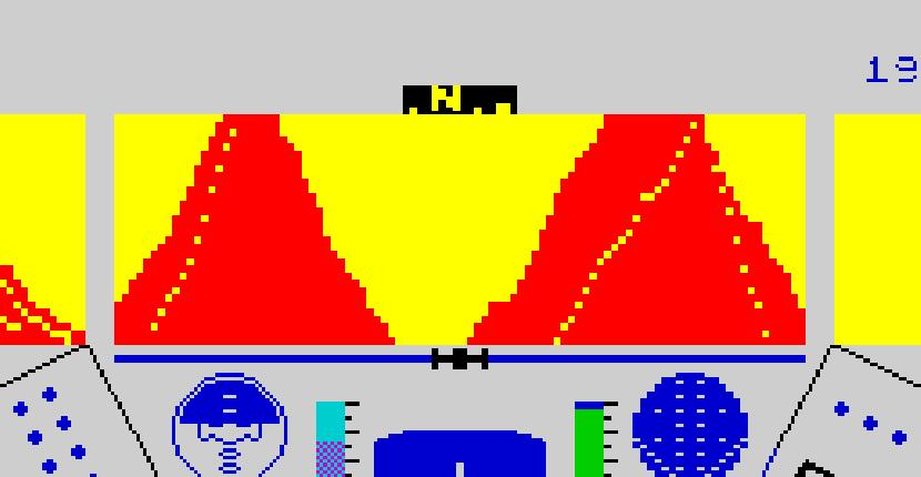 Rescue on Fractalus | Juego: ZX Spectrum | Activision · 1986