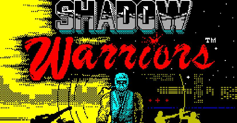 Shadow Warriors - ZX Spectrum de Ocean Software (1990)