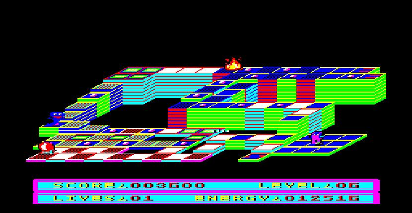 BJ In 3D Land - Sinclair QL de Eidersoft (1986)