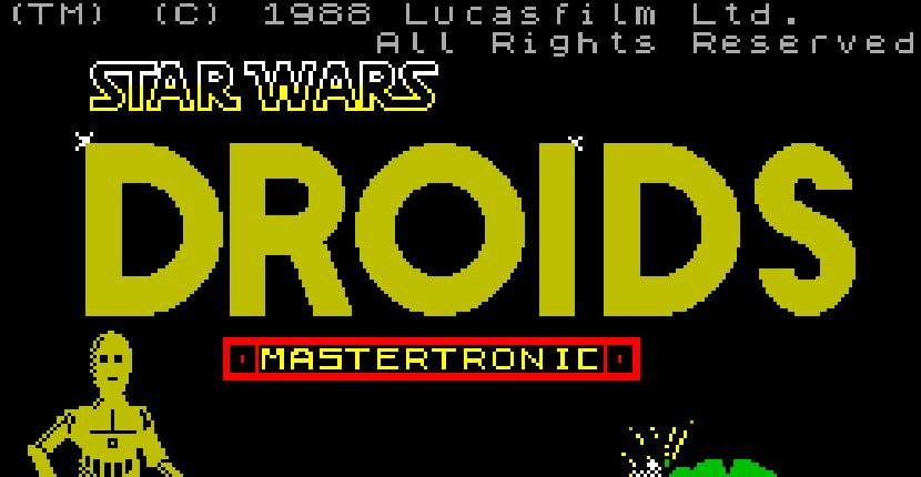 Star Wars Droids - ZX Spectrum de Mastertronic Added Dimension (1988)