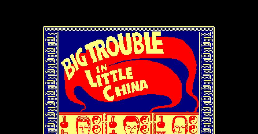 Big Trouble in Little China - Amstrad CPC de Electric Dreams Software (1987)
