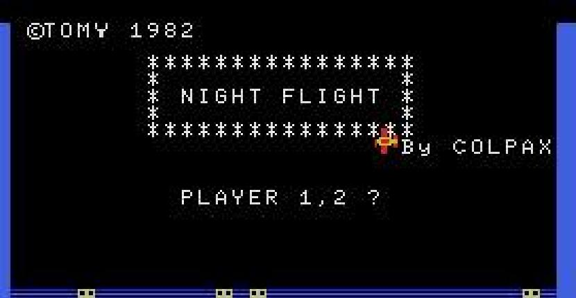 Night Flight - MSX de Tomy Company (1982)