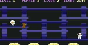 Burger Time | Juego : Commodore 64 | Interceptor Micros & ABC Soft