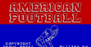 American football | Juego : Spectrum 48K | P. Rawling | Mind Games