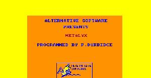 Metalyx | Manual Juego : Spectrum & Amstrad | Alternative Software
