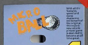 Microball | Manual Juego : Amstrad & Spectrum | Alternative Software