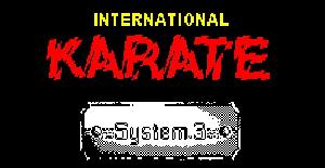 International Karate - ZX Spectrum de System 3 Software (1986)
