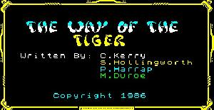 The Way of the Tiger - ZX Spectrum de Gremlin Graphics (1986)