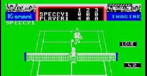 Konami Tennis - ZX Spectrum de Imagine (1986)