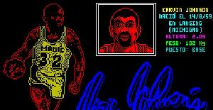 Magic Johnson's Basketball - ZX Spectrum de DRO Soft (1990)