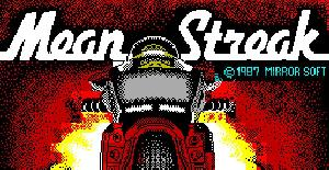 Mean Streak - ZX Spectrum de Mirrorsoft (1987)