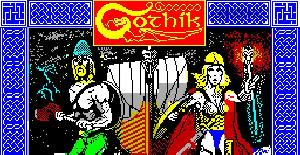 Gothik - ZX Spectrum de Firebird Software (1987)